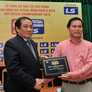 Thái Sơn Nam tài trợ cho giải VĐ Futsal ĐNA